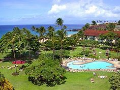 Kaanapali Beach Hotel with the whale-shaped pool, access to the beach, nostalgia appeal, and daily breakfast included.