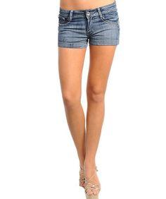 Stanzino Women`s Whiskered Blue Denim Shorts for only $14.75