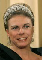 Princess Laurentien of the Netherlands in the Laurel Wreath tiara Princess Laurentian of Orange-Nassau, wife of Prince Constantijn, wearing the Diamond Laurel Wreath Tiara, The Netherlands c. Royal Crown Jewels, Royal Crowns, Royal Tiaras, Royal Jewelry, Tiaras And Crowns, Diamond Tiara, Casa Real, Royal Brides, Circlet