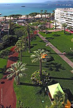 Vue sur les jardins du Grand Hôtel de Cannes depuis les chambres et suites face mer. #garden #seaview #croisette #riviera #hotel
