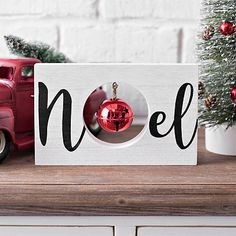 Add some festive holiday flair with our Noel Wooden Word Block with Bell! Place this word block on your shelves, coffee or entryway table to finish off your Christmas design. Word block measures x x in. Crafted of wood White finish Features the word Wooden Christmas Decorations, Christmas Wood Crafts, Farmhouse Christmas Decor, Christmas Design, Christmas Projects, Christmas Art, All Things Christmas, Winter Christmas, Holiday Crafts