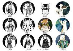 NEW - Handmade Animal (Rabbit/Cat/Bear/ Glass Cabochon by yooounique on Etsy Decorative Plates, Rabbit, Bear, Unique Jewelry, Handmade Gifts, Cats, Animals, Vintage, Bunny
