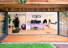 Top 10 Dream Home Gyms -  This dream home gym/ home office combo!