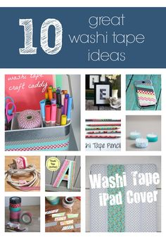 10 great washi tape ideas! - I am not sure what Washi tape is, but it looks interesting.