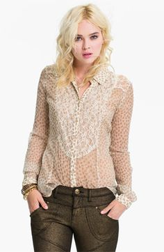 Free People 'All That Glitters' Sheer Shirt