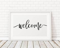 Rustic Welcome Sign/ Welcome Printable Art/ Welcome Sign/
