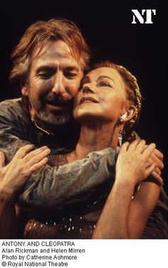 Alan Rickman and Helen Mirren in Antony and Cleopatra, Royal National Theatre.  Photo by Catherine Ashmore.  ( Kelly Mirren - Picasa Web Albums)