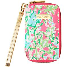 Lilly Pulitzer Tiki Palm iPhone 6/6S Wristlet ($48) ❤ liked on Polyvore featuring accessories, tech accessories, bags, zip wristlet, lilly pulitzer, iphone wristlet, lilly pulitzer wristlet and zipper wristlet
