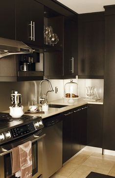 Designer Kitchens Dark Cabinets amazing contemporary kitchen design with espresso stained kitchen