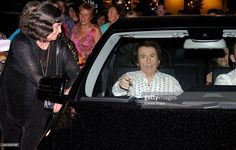 Raphael leaves Royal Theatre after his concert on July 22, 2015 in Madrid, Spain.