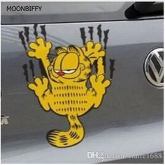 Funny car sticker The cartoon Garfield the reflective stickers  FREE SHIPPING - $2.99