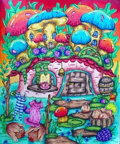 "Mariella on Instagram: ""Fairy Celebrations by Klara Markova I used faber castel polychromos  #fairycelebrations #klaramarkova @klaramarkovajewels…"""
