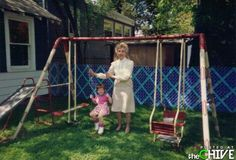 We had a swing set like this in our backyard.