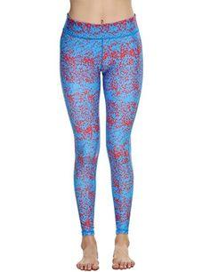 Ekouaer Women's Skin Tight Sportswear Yoga Workout Running Tights Leggings