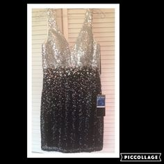 New with tags size 14 Alyce Paris This is a new size 14 prom Hoco cruise dress by Alyce.  It is covered in seqins and has an stones around the waist.  It has been tried on in the store but is new. Alyce Paris Dresses Prom