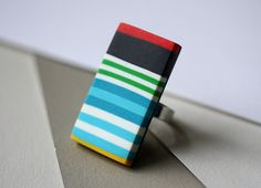 geometric statement ring #jewelry # ring