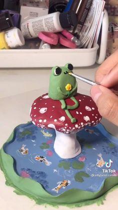 Polymer Clay Crafts, Diy Clay, Cute Crafts, Diy Crafts, Clay Art Projects, Cute Clay, Sculpture Clay, Air Dry Clay, Clay Creations