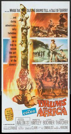 Drums of Africa (1963) Stars: Frankie Avalon, Lloyd Bochner, Mariette Hartley, Peter Mamakos, Michael Pate, Hari Rhodes ~ Directed by James B. Clark