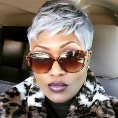 short hair in silver color! #haircolor #hairdye #dyedhair