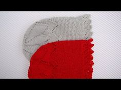 en video y gráfico tutorial para tejer una Capota o Gorrito de bebé a dos agujas.