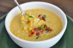 Smoky Corn Chowder, my guy's favorite soup!