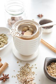 Brew up your own batch of homemade Masala Chai, filled with aromatic herbs and spices. This recipe is dairy, sugar and caffeine free.