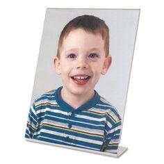 Clear Self-Standing Desk Frame for 8 X 10 Insert, 3/Pack