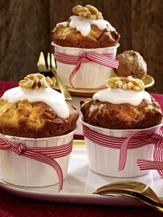 Bratapfel-Walnuss-Muffins
