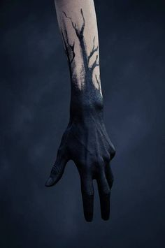 black, tattoo, and hand image
