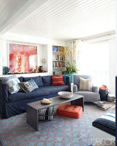 Beachy Living Rooms - Summer Living Rooms - ELLE DECOR