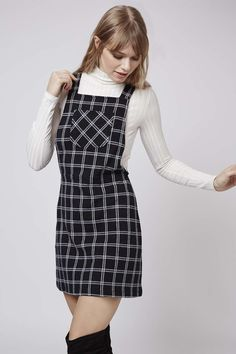 Photo 2 of Check Pinafore Dress