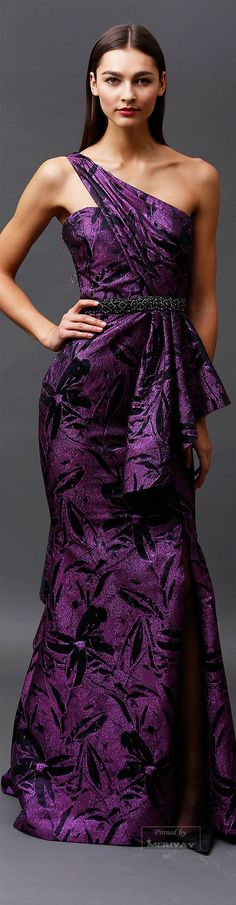 Badgley Mischka.Pre-Fall 2015.  | purple fashion | www.endorajewellery.etsy.com