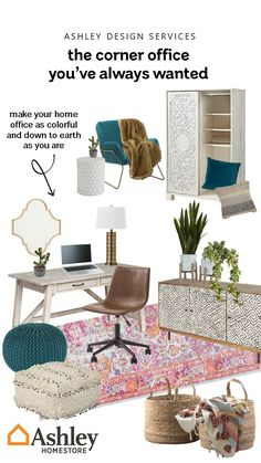 Cozy Home Office, Guest Room Office, Home Office Space, Bedroom Office, Home Office Design, Home Office Decor, Bedroom Decor, Home Decor, Guest Rooms