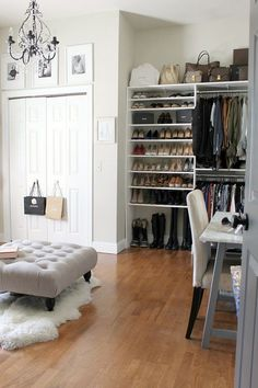 Trendy Bedroom Storage Ideas For Clothes Wardrobes Dressing Rooms Bedroom Turned Closet, Spare Room Closet, Spare Bedroom Closets, Dressing Room Closet, Extra Bedroom, Bedroom Wardrobe, Dressing Rooms, Dressing Area, Closet Office