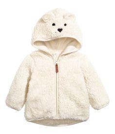 Teddy capuchonvest | Gebroken wit | Kinderen | H&M NL