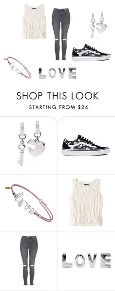 """""""Enamorada!!!"""" by ximenaalboranista on Polyvore featuring FOSSIL, Vans, American Eagle Outfitters and Topshop"""