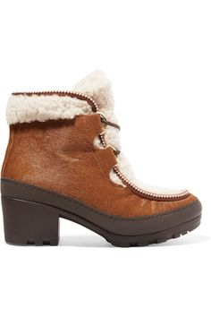 91518937e0f3 Tory Burch - Berkley calf hair and shearling ankle boots