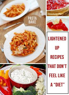 Lightened up recipes