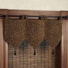 Safari Leopard Print Banner Valances