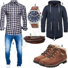 Kariertes Hemd, Bluejeans und lange Jacke (m0656) #stiefel #timberland #kayhan #übergangsjacke #fossil #outfit #style #herrenmode #männermode #fashion #menswear #herren #männer #mode #menstyle #mensfashion #menswear #inspiration #cloth #ootd #herrenoutfit #männeroutfit