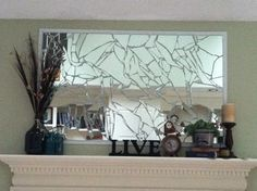 Since I broke my mirror anyways.... mine as well do something like this!