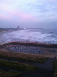 Tynemouth long sands beach 21 st January 7.55am 2014
