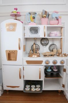 DIY Gold and White Kitchen - A Darling Daydream