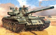 Israeli Tiran 5 (captured T-55) during the Yom Kippur War