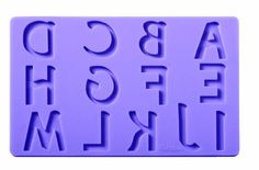 Wilton Fondant and Gum Paste Silicone Mold Set, Letters and Numbers