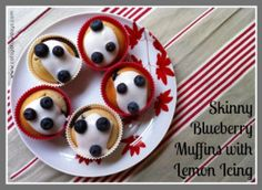 Skinny Blueberry Muffins with Lemon Icing Recipe