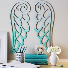 Make these Ombre Angel Wings to add a heavenly touch to your wall decor