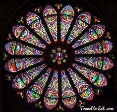 Rose Window of the Western Façade. Saint Remi Basilica, Reims, France