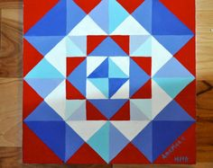 Barn Quilt America II by PositivelyPeriwinkle on Etsy