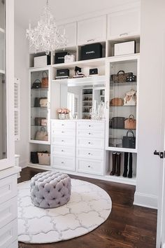 Master Closet Reveal Happy Friday, everyone! I'm so excited to FINALLY share my completed master closet renovation with California Closets today! Walk In Closet Design, Bedroom Closet Design, Master Bedroom Closet, Closet Designs, Bedroom Decor, Bedroom Wardrobe, Bedroom Ideas, Mirror Bedroom, Decor Room
